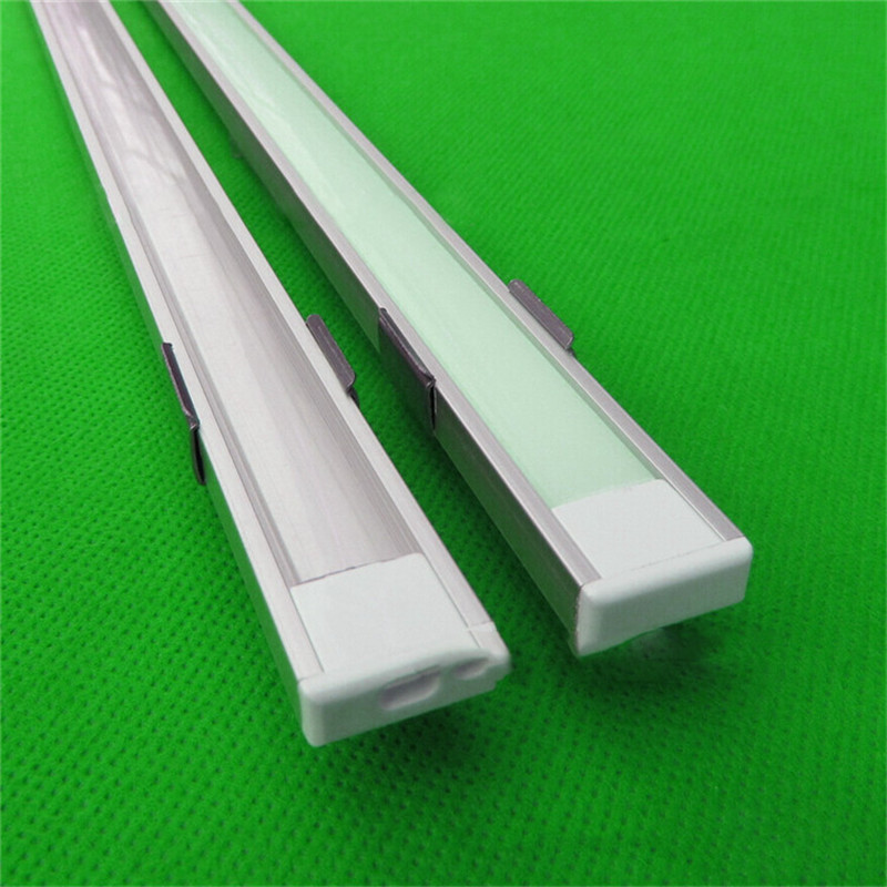 5-30pcs/lot ,1m aluminum profile for led strip,milky/transparent cover for 12mm 5050 strip with fittings LED bar light CC-1607<br>
