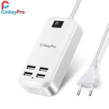 USB Charger 15W 3A EU Plug HUB Adapter Smart phone Charging Dock Device Travel For iPhone yotaphone2 HTC LG g3 4 more CinkeyPro
