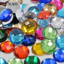 10mm Mixed Color Rhinestone Flatback Acrylic Round Strass Crystal and Stone For Clothes Crafts Decorations 500pc