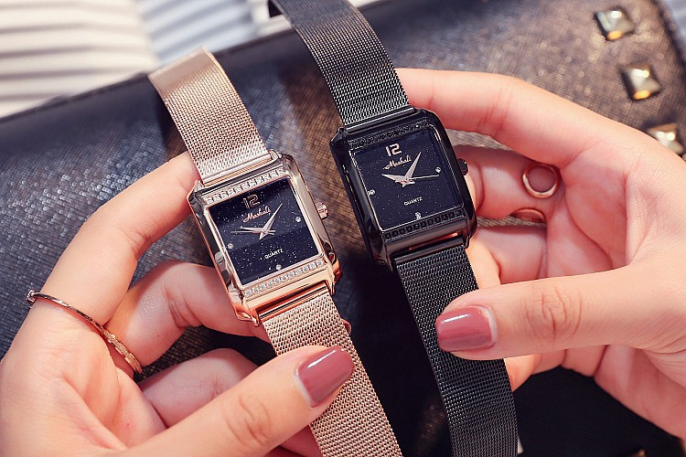 Rose Gold Stainless steel Mesh strap for Women's watches top brand luxury fashion casual quartz ladies watch waterproof Clock