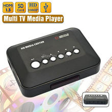 5pcs/lot 1080P Full HD SD/MMC TV Videos SD MMC RMVB MP3 Multi TV USB HDMI Media Player with Remote Control(China)