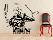 Ghost Rider Movie Characters Wall Sticker Wall Decals Vinyl Wall Art Home Plane Bedroom Children's Room Decoration Videos