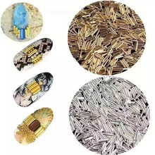 Buy 500psc Mixed Alloy Glitter 3D Nails Art Jewelry Decorations Charms Manicure Charms 3D Nail Art Decorations JSB001-006 for $2.01 in AliExpress store