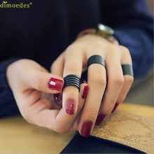 Diomedes Newest HOT New Womens Trendy Punk Cool Black Metal 3Pcs Simple Knuckle Rings Set Giftcocktail rings,Romanticparty