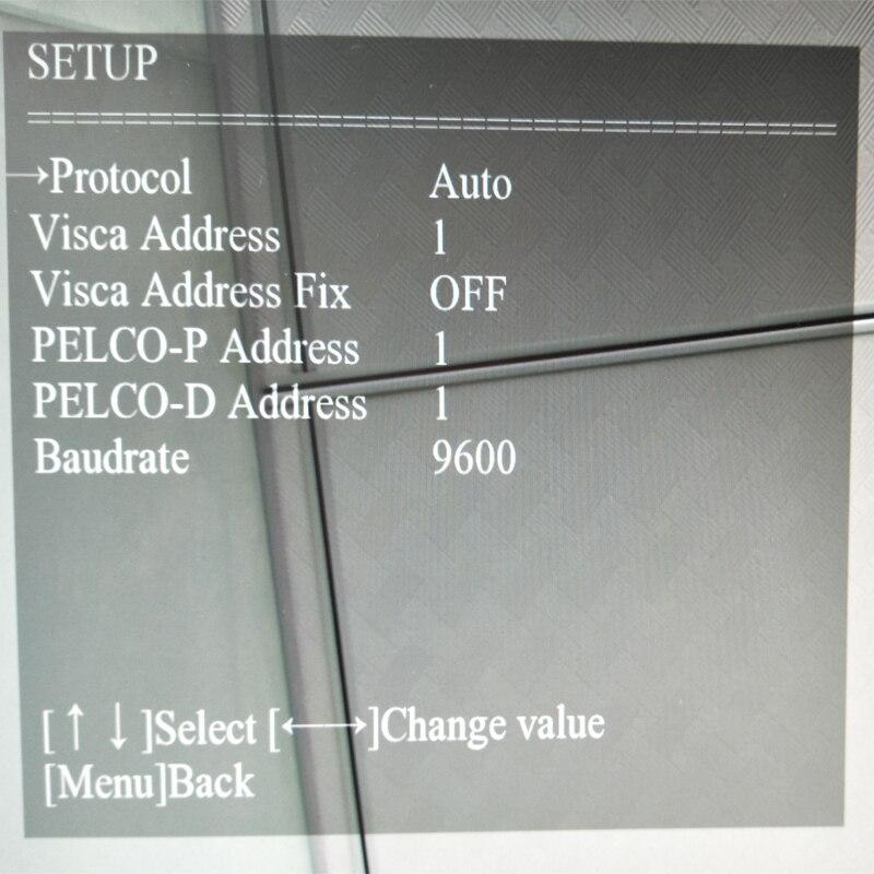 menu setup