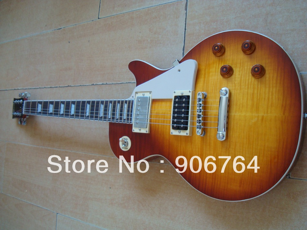 jimmy page JP cherry sunburst cs LP standard guitar Metallica mahogany one piece of neck super shop custom build good quality(China (Mainland))