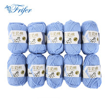 10Pcs Knitting Wool Yarn Roving Bulky Spinning Super Thick String Chunky Hand Knitting Thread Crochet Yarn for Hat Scarf Knitted(China)