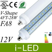 V-Shaped FA8 T8 Led Tube Lights 4FT 28W 2600lm Cooler Door Led Fluorescent tubes light Lamp Led Double Glow lighting AC85-265V