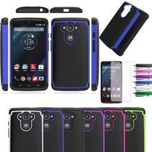 2in1 Impact Rubber Shockproof Silicone Hard Case Cover For Motorola Droid Turbo/Moto Max XT1254/Ballistic Nylon Version XT1225(China)