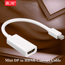24 cm Mini DP to HDMI Adapter Cable Mini DisplayPort Thunderbolt Port Converter for Macbook Pro Air Projector Camera TV PC