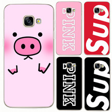 Pink black letters Case For Samsung Galaxy S5 S6 S7 Edge S8 Plus A3 A5 J1 J2 J3 J5 J7 2015 2016 2017 Prime Note 8