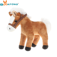 BOOKFONG 35CM Simulation Little Horse Plush Doll High Quality Animal Horse Prop Toys for Teaching Children Gift Home Decor