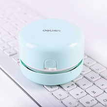 fashion compact keyboard cleaner handheld mini sucker power vacuum cleaner desktop artifact ash gray portable household tools(China)