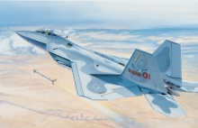 Out of print product! Italeri model 0850 1/72 F - 22 RAPTOR airplane plastic model kit