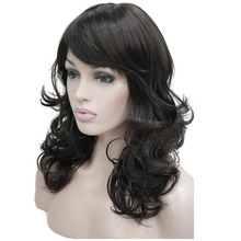 StrongBeauty Women's Wig Bob Long Wavy Layered Hair Black/Auburn Synthetic Full Wig 8 Color