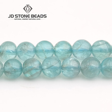 JD Stone Beads Free Shipping Natural Ice Apatite B Fashion Hand-made Jewelry Ornament(China)