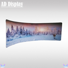Premium 20ft*7.5ft Semi-C Shape Advertising Portable Tension Fabric Media Wall With Single Side Banner Printing,Events Display
