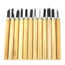 12pcs/set,DIY Wood carving tools Wooden handle Chisel Woodworking Manual sculpture tools WOODCUT Wooden Cutter Filcher KNIFE