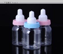 120pcs Plastic feeding bottle Candy Box ,Baby birth party &baptism baby shower wedding favor