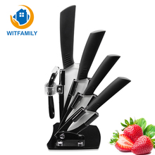 "Zirconia Kitchen Knives Ceramic Knife 3"" 4"" 5"" 6"" Peeler Knife Holder Kitchen Cooking Knife White Blade Ceramic Top Quality"