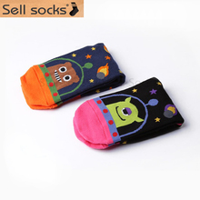 2015 fashion New South Korean animal lovely cartoon space alien women's cotton socks women 35-40(China)