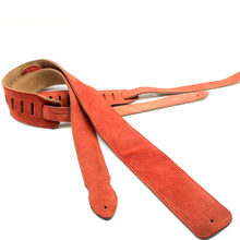 Genuine Leather Guitar Strap for For Acoustic Electric Guitar and Bass Leather Guitar Belt  S988 E-H