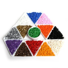 Fashion 3x3mm 25g(300pcs/lot) Multiple Color Cube Square-Shape Seed Bead Glass Spacer Loose Beads for DIYJewelry & Craft Making