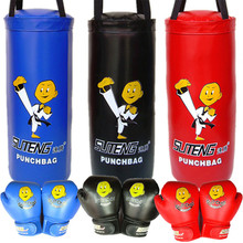 SUTEN Cartoon Children Sanda Fighting Boxing Sandbag (Empty) With 1 Pair Child Boxing Gloves Kids Protective Gear for Year-olds(China)