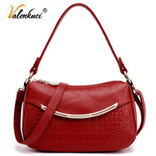 Valenkuci Women Leather Handbags Women Messenger Bags Cowhide bolsa feminina Women Bag bolsos Shoulder Bags Crossbody Bag SD-807