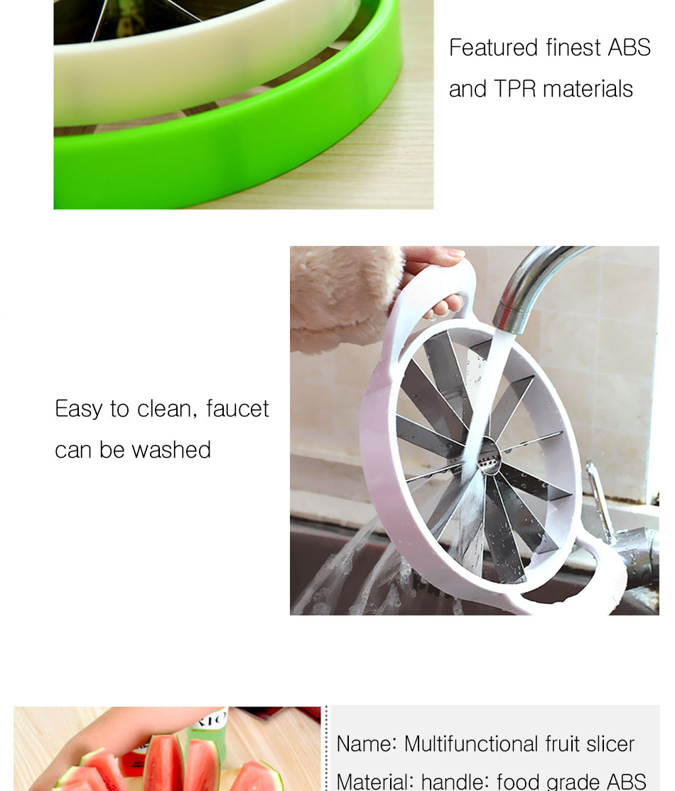Watermelon Artifact Cut Fruit Split Function Cut Watermelon Melon Slice Cutter Convenient Kitchen Cooking Cutting Tools Cutter (10)
