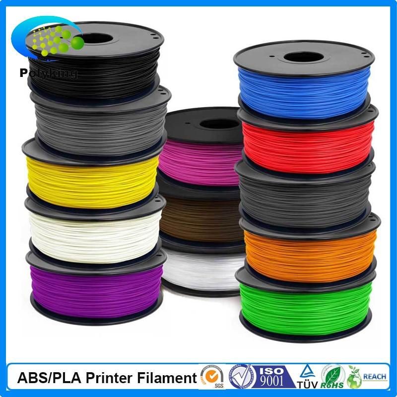 High Quality Colorful 3D Printer Filament 1.75MM 3MM PLA For MakerBot RepRap UP Mendel Consumables 1KG /Spool 36pcs/ lot<br>