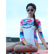 Hot Sale High Quality Women Rash Guard Suit UV Protection Long Sleeves Windsurf Surfing Swimsuit Swimwear Swimming Shirt