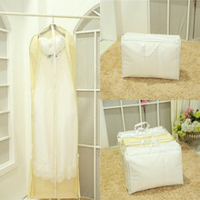 180cm 2 in 1 Wedding Dress Bags Clothes Cover Dust Cover Bride Bridesmaid Garment Bags Bridal Gown Bag Dress Cover Cheap