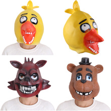 Original Five Nights At Freddy's 4 FNAF Cosplay Foxy Chica Bonnie Freddy Latex Mask Adult Size Figure Toys(China)