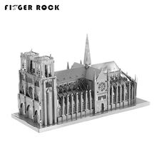 Finger Rock 3D Puzzle Metal Buildings Notre Dame de Paris  Eiffel Tower Big Ben DIY  Model Worlds Famous Architecture Jigsaw Toy