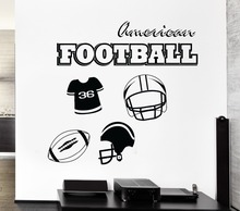 Wall Decal American Football Sports Kids Room Decor Vinyl Stickers Art(China)