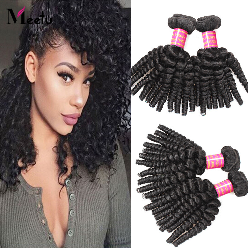 4Pcs Lot Malaysian Virgin Bouncy Curly Hair Weave Bundles 7A Natural Color Bouncy Curly 14-28 Inch True To Length Fast Shipping<br><br>Aliexpress