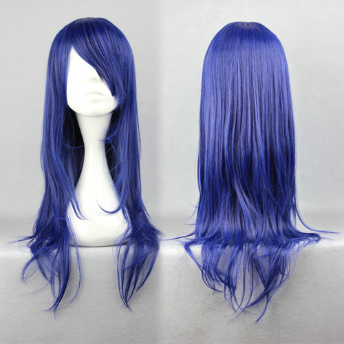 MCOSER Free Shipping High Quality Clannad Lchinose Kotomi 65cm Long Straight Dark Blue Fashion Synthetic Anime Cosplay Party Wig<br><br>Aliexpress