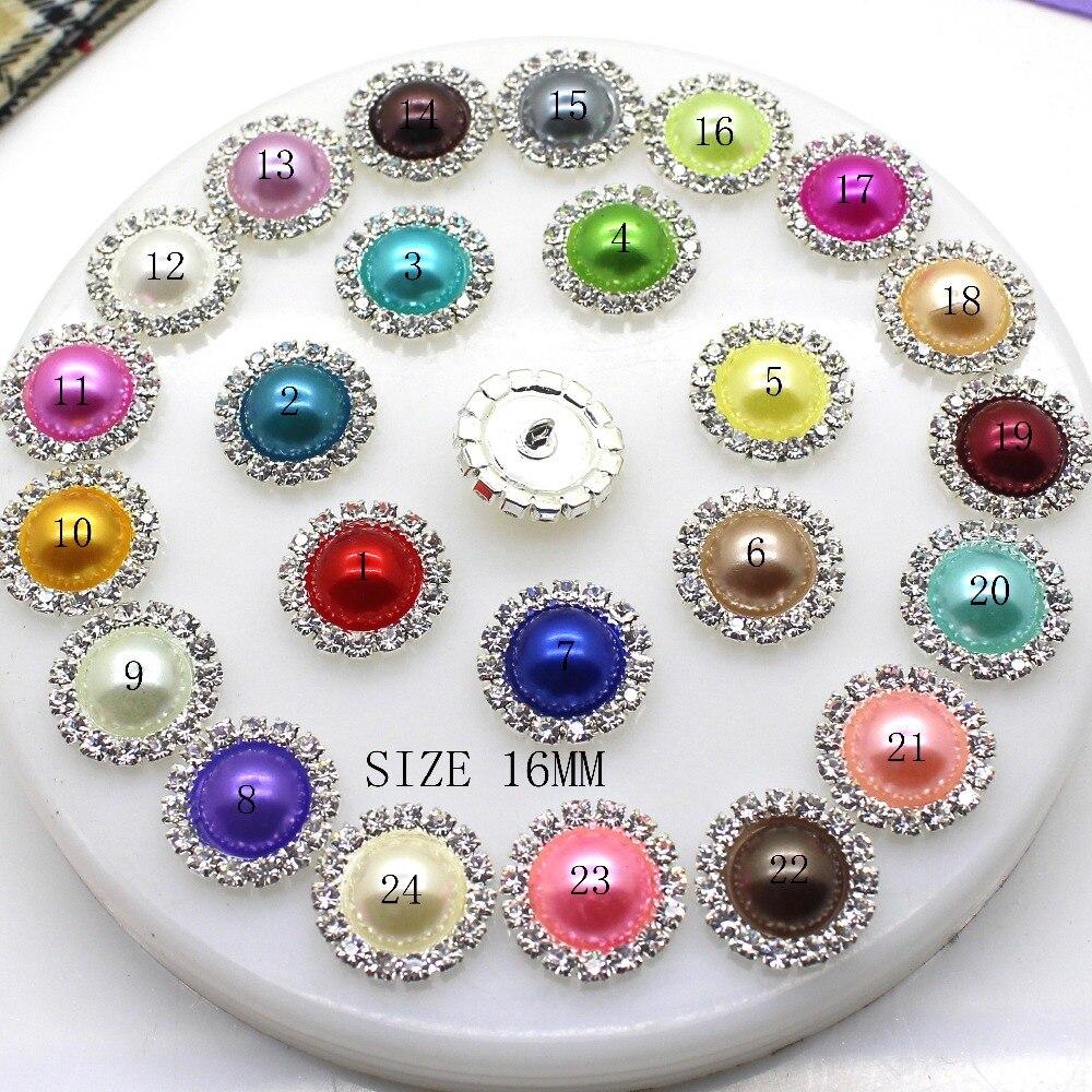 10pcs Diamante Rhinestone Button Flatback Wedding Invitation Embellishment Sew