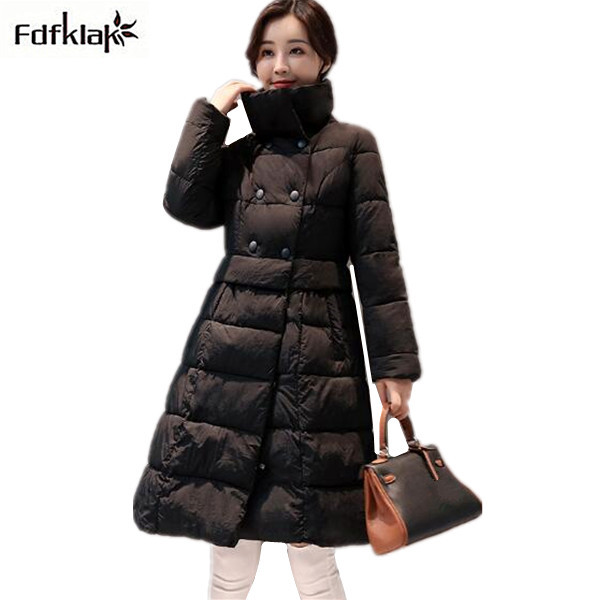 Fdfklak Fashion Long Winter Coat Women Cotton-padded Jacket Female Outerwear Coats Womens Winter Jacket parka femme hiverÎäåæäà è àêñåññóàðû<br><br>