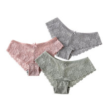 Buy Women Sexy Panties Lace Fashion Cozy Lingerie Briefs High Quality Cotton Low Waist Elegant Style Hollow Women Underwear New