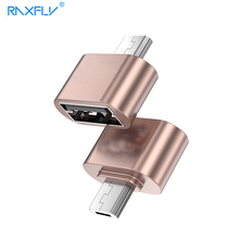 RAXFLY Micro USB to USB OTG Adapter For Samsung Huawei Micro USB Male to USB 2.0 OTG Converter For Xiaomi Sony Android Phone(China)