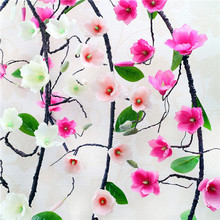 Buy 180cm Rose Artificial Flowers DIY Silk Fake Rose Flower Ivy Vine Green Leaves Home Wedding Decoration Hanging Christmas Garland for $12.79 in AliExpress store