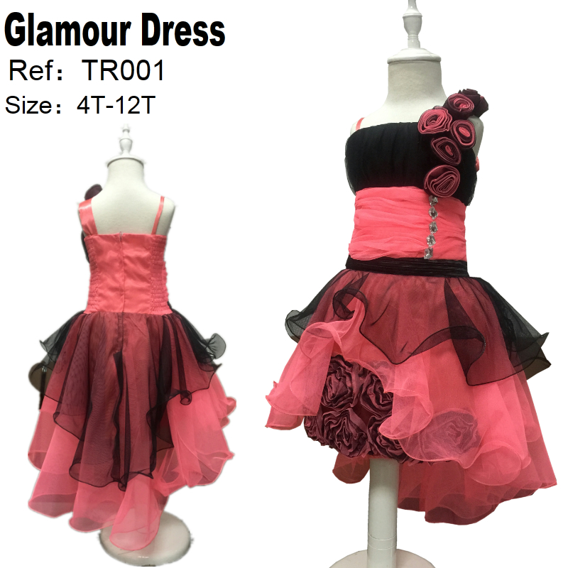 Free Shipping Asymmetrical Kids Dress For Girl 10 12 Years Child Pageant Gown Patchwork Novelty Girl Party Dresses Factory China<br>
