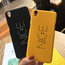 SZYHOME Phone Cases For OPPO R7 R7s R9 R9s Plus Case Simple NICE Smile Face Yellow Black For OPPO R7s R9 Mobile Phone Cover Case(China)