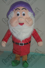 export high quality purple hat red clothes dwarfs costumes the seven dwarfs mascot costume