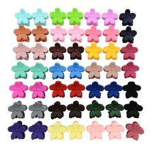 50pcs/lot 0.5 Inch Korea Hair Accessories Baby Girls Hairpin Small Flowers hair Clips Bangs Hair Claws For Children 663(China)