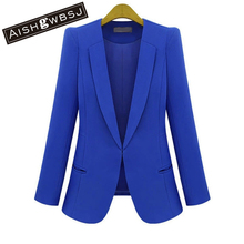 AISHGWBSJ Feminino Women Blazers and Jackets Coats Long Sleeve Slim Outerwear New Fashion Plus Size S M L XL 2XL 3XL 4XL ZP188(China)