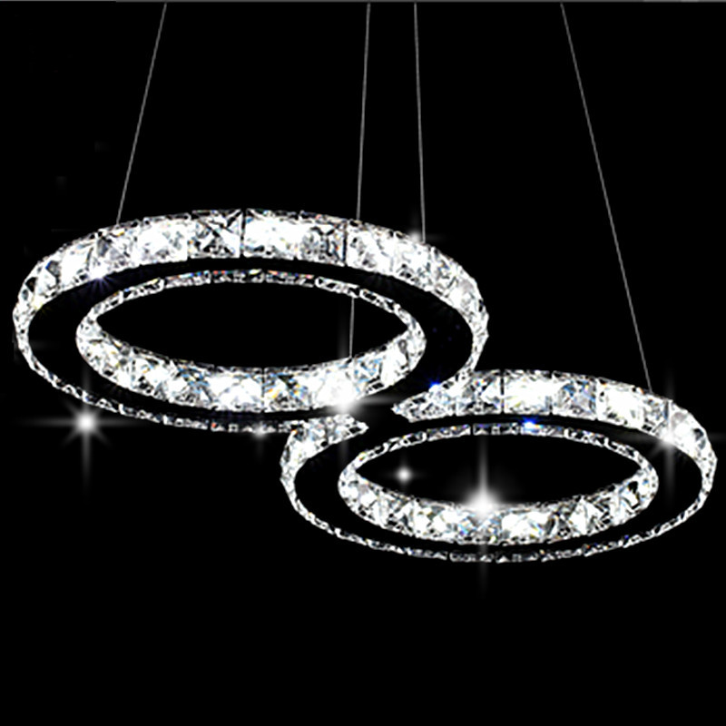 creative stainless steel staircase Restaurants Mainstream fashion bedrooms LED crystal chandelier lamp factory outlets<br><br>Aliexpress