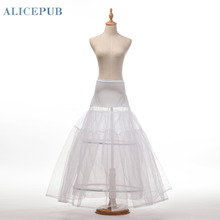 Free Shipping Underskirt Hot Sale A-line 2 Hoop Ball Gown Bone Full Crinoline Petticoat Bridal Wedding Skirt Slip QC140004-M